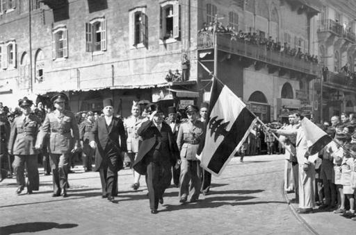 Le Président Béchara el Khoury à l'indépendance du Liban