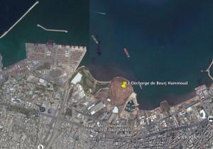 Une vue satellite de la décharge de Bourj Hammoud