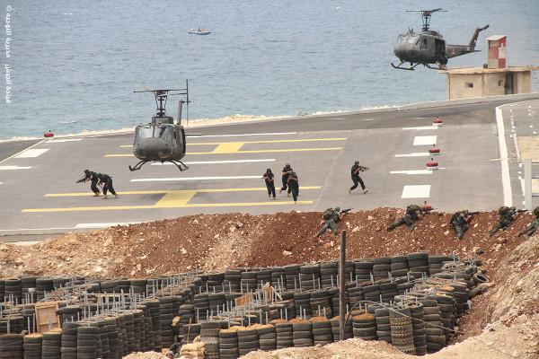 Les commandos de la Marine Libanaise en manoeuvre. Crédit Photo: http://lebarmy.gov.lb