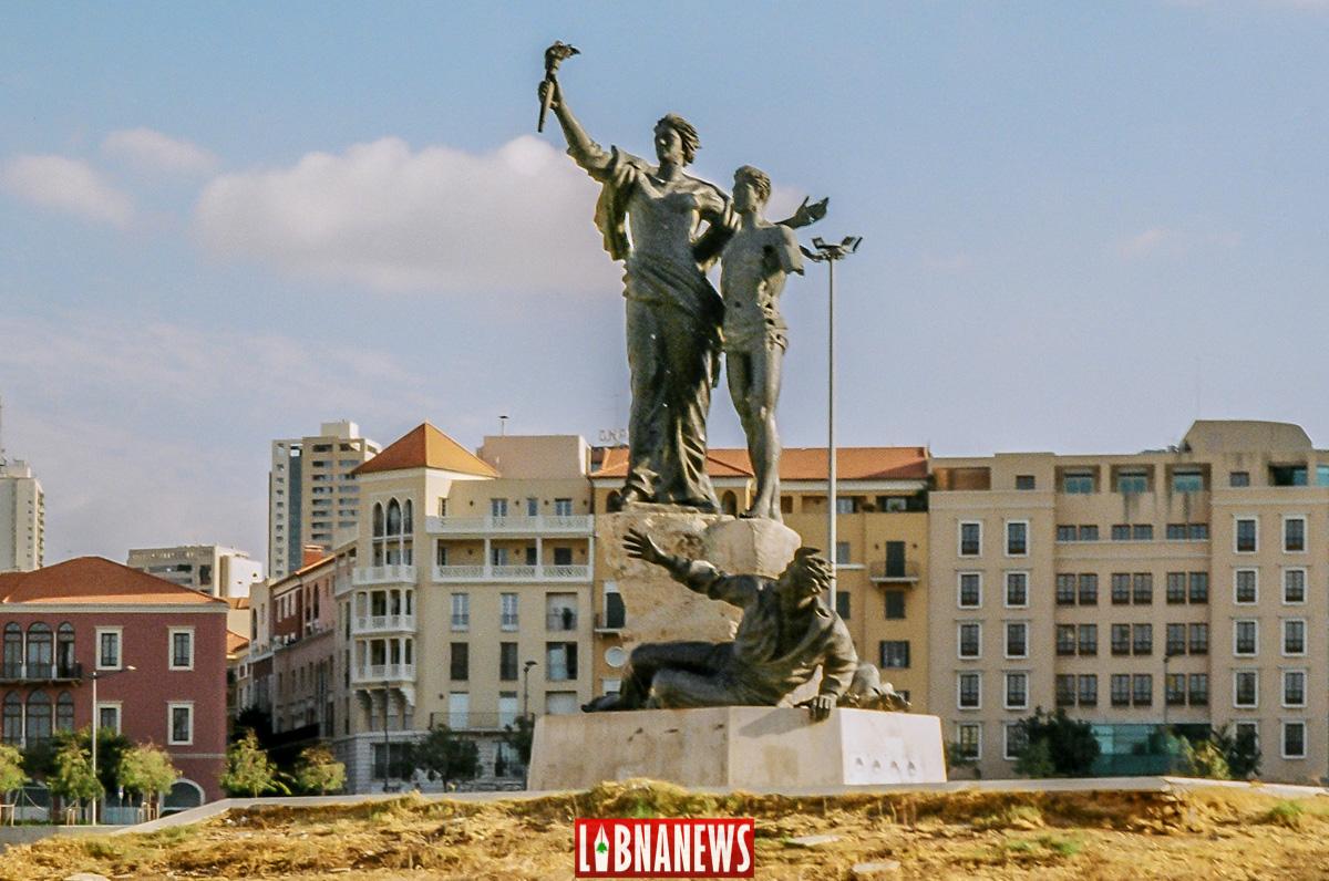 Les statues de la Place des Martyrs, Beyrouth. Crédit Photo: François el Bacha pour Libnanews.com. Tous droits réservés.