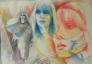 Hommage à Fayrouz par © Elie Rizkallah – Crayons de couleur (1990)