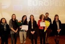 L'Ambassadeur Lassen avec les deux lauréates et les membres du jury