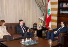 L'envoyé spécial américain pour le proche orient, David Saterffield avec le Premier Ministre Saad Hariri. Crédit Photo: Dalati &Nohra