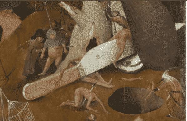 """Figure 8 : """" Le Jugement dernier """", Jérôme BOSCH, détail, Bruges, Stad Brugge, Groeninge museum"""