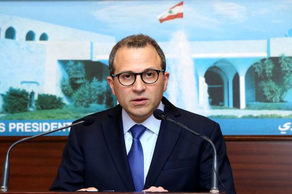 Le Ministre des Affaires Etrangères, Gébran Bassil. Crédit Photo: Dalati & Nohra