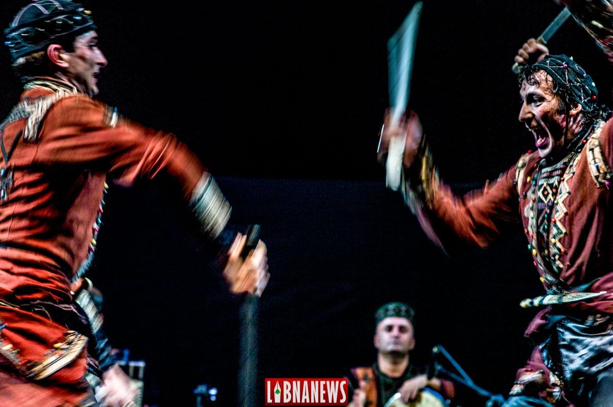 Spectacle de folklore géorgien. Crédit Photo: François el Bacha pour Libnanews.com. Tous droits réservés.