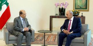 La réunion du 15 mai entre le Président de la République Michel Aoun et le Président de la Chambre sortante Nabih Berry. Crédit Photo: Dalati & Nohra
