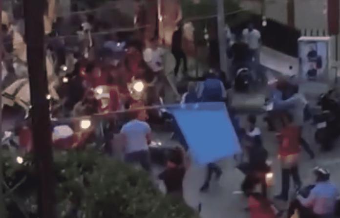 Copie d'écran de la vidéo de l'incident post électoral du 7 mai 2018 qui circule sur les réseaux sociaux