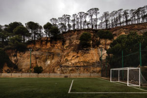 Terrain de football à Falougha, Ieva Saudargaité Douaihi