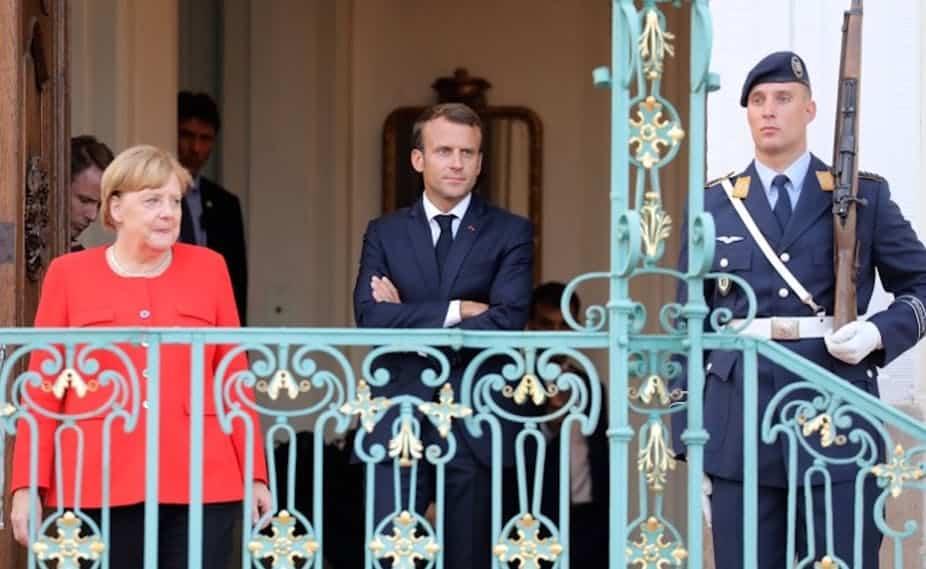 Angela Merkel et Emmanuel Macron à Mesberg (Allemagne), le 19 juin 2018. Ludovic Marin/AFP