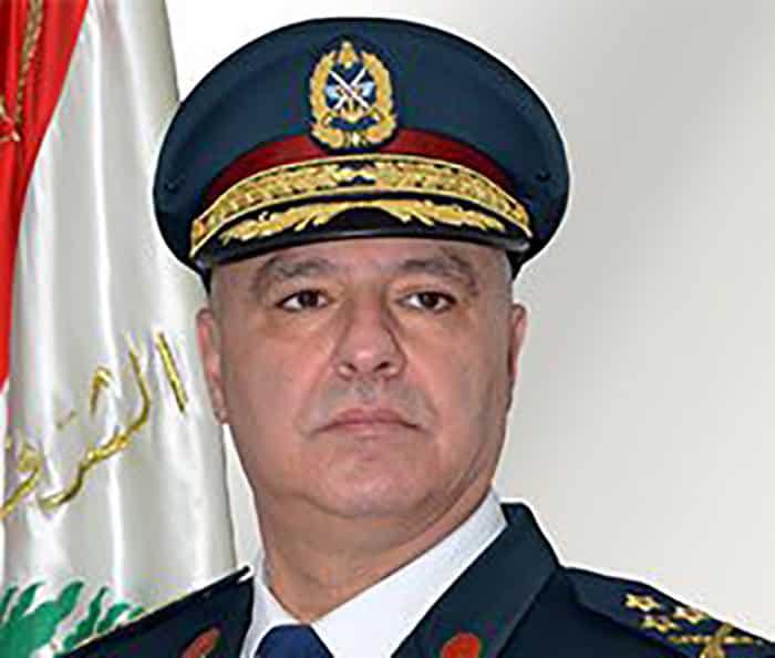 Le Commandant de l'Armée Libanaise, le Général Joseph Aoun. Crédit Photo: LebArmy.gov.lb