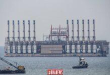 L'arrivée de la barge turque à Zouk. Crédit Photo: François el Bacha pour Libnanews.com. Tous droits réservés.