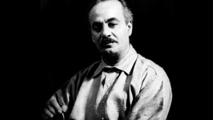 Une Photo de Gébran Khalil Gébran, dont le nom est orthographié aux USA comme Gibran Khalil Gibran
