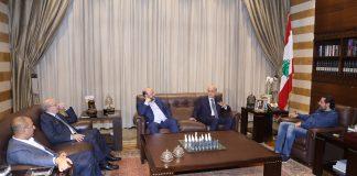 La rencontre entre le Premier Ministre désigné Saad Hariri et le dirigeant des Forces Libanaises Samir Geagea, le 20 octobre 2018. Crédit Photo: Dalati & Nohra