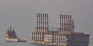 La centrale sur le départ, au large des côtes de Jounieh, au nord de la capitale, Beyrouth, ce mercredi 24 octobre 2018. Crédit Photo: François el Bacha, Libnanews.com, tous droits réservés.