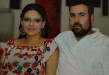 Roula Yacoub, en compagnie de son mari qui est accusé de l'avoir assassiné. Source photo: Facebook
