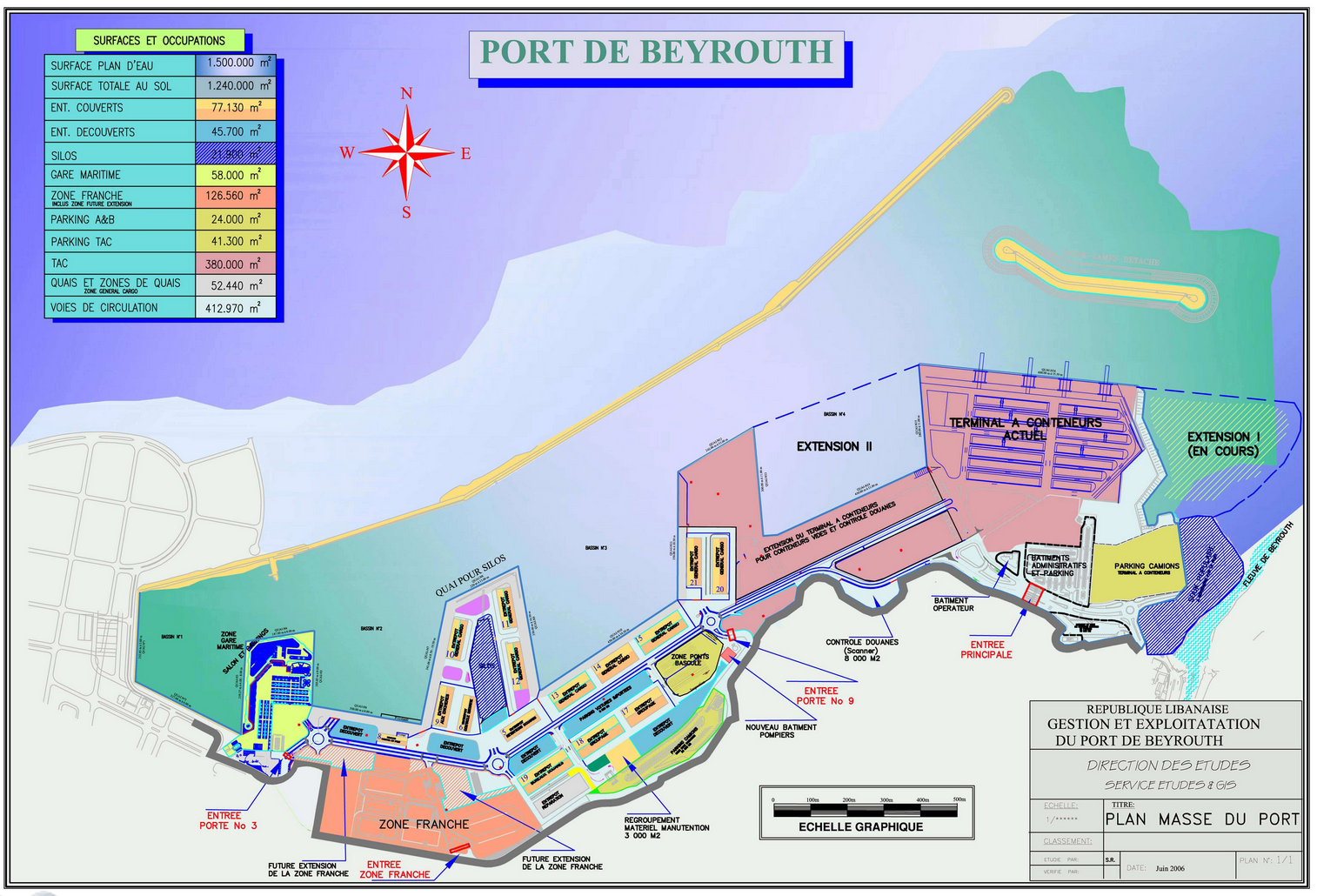 Port Beyrouth Carte Du Port