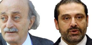 La crise politique en Saad Hariri, premier Ministre du Liban et l'ancien député druze Walid Joumblatt