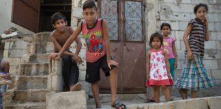 Enfants Dom qui jouent au Liban. Source photo: Site de Tahaddi, http://www.tahaddilebanon.org/FR/
