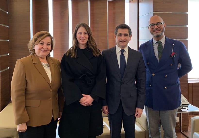 Le Ministre des Affaires Sociales, Richard Kouyoumjian recevant une délégation de l'ONU sur l'égalité des Genres. Crédit Photo: Dalati & Nohra
