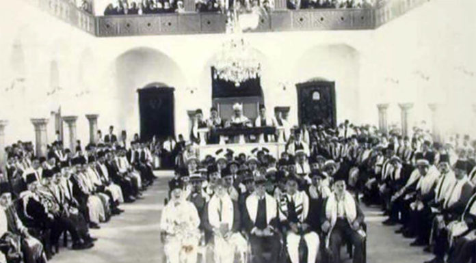 La communauté juive de Beyrouth réunie à la Synagogue Magen Abraham. Source Photo: Facebook