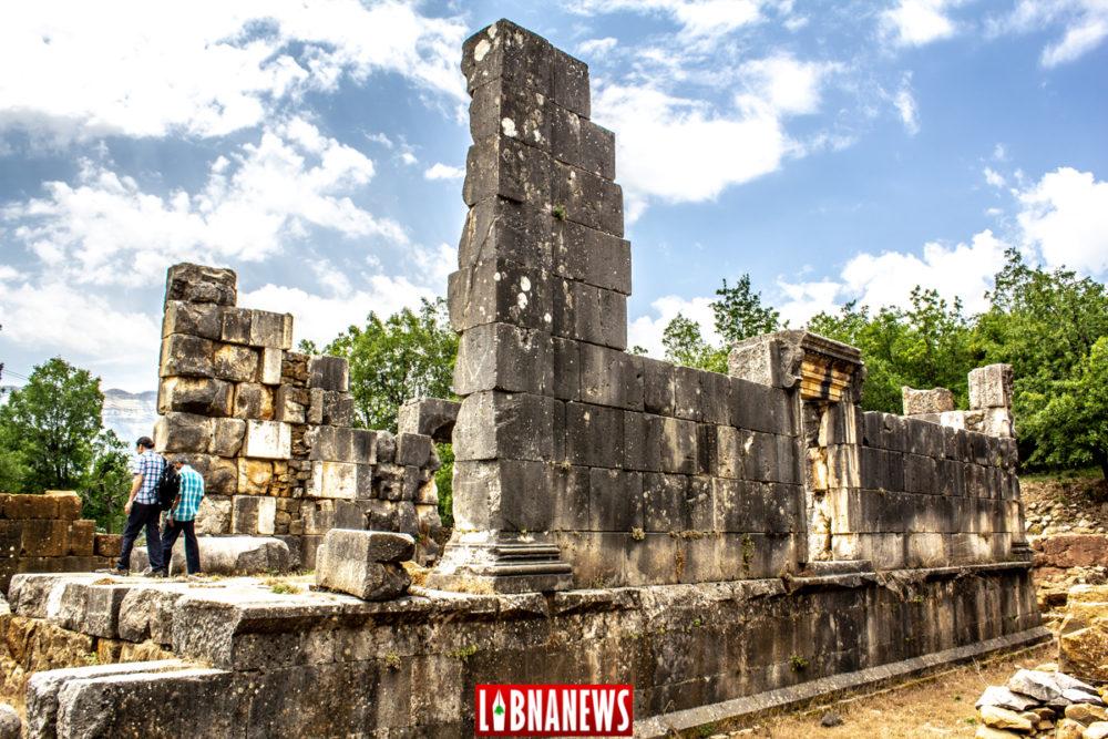 Le temple de Diane transformé en Eglise St Georges. Yanouh. Crédit Photo: François el Bacha pour Libnanews.com. Tous droits réservés