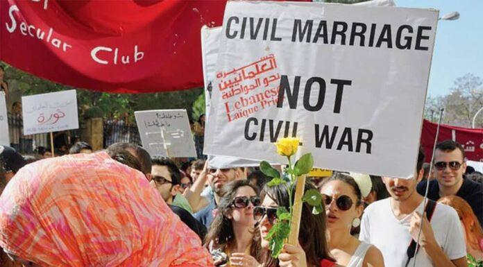 Manifestation en faveur du Mariage Civil Au Liban
