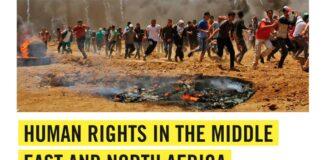 La couverture du rapport 2018 d'Amnesty International sur le Moyen Orient et l'Afrique du Nord.