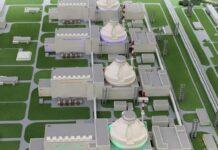 Une maquette numérique de la centrale nucléaire d'Akkuyu en Turquie.
