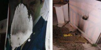 L'attaque au cocktail molotov de la permanence du Parti Kataëb à Sin el Fil. Source photo: Kataeb.org