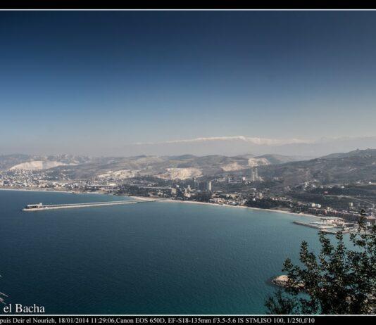 La ville de Chékaa au Nord Liban et ses cimenteries. Crédit Photo: Francois el Bacha