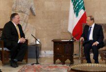 Mike Pompeo avec le Président de la République, le Général Michel Aoun. Crédit Photo: Dalati & Nohra