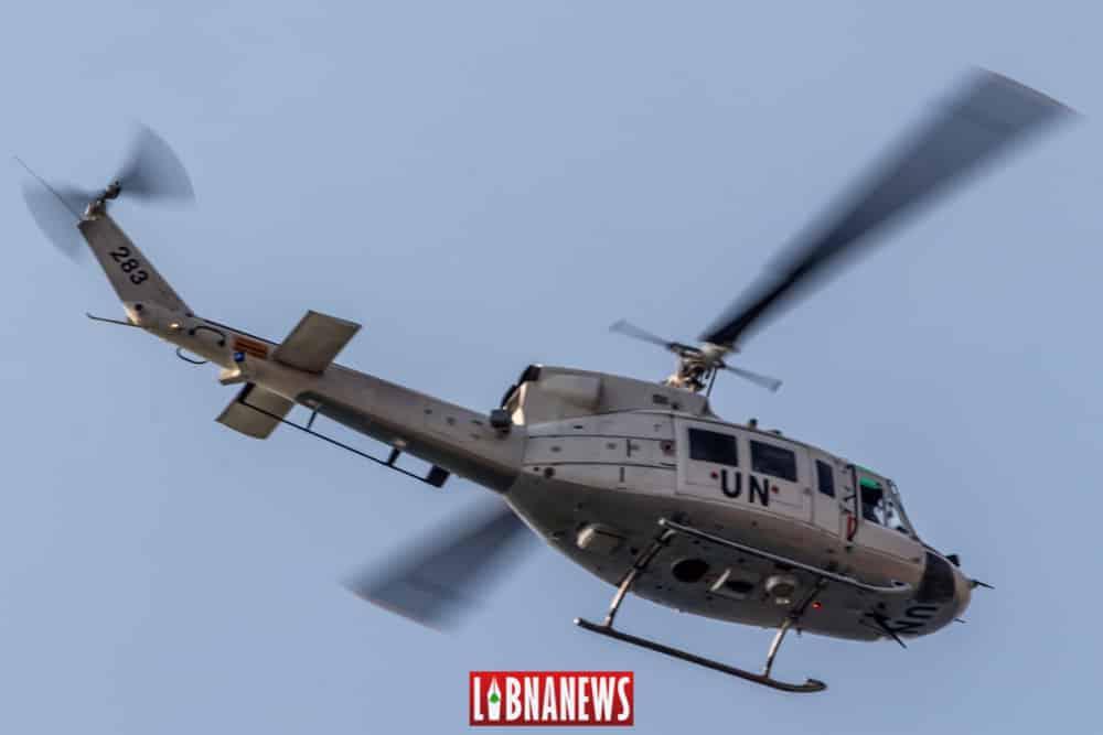 Un hélicoptère de la FINUL. Crédit Photo: François el Bacha pour Libnanews.com. Tous droits réservés.