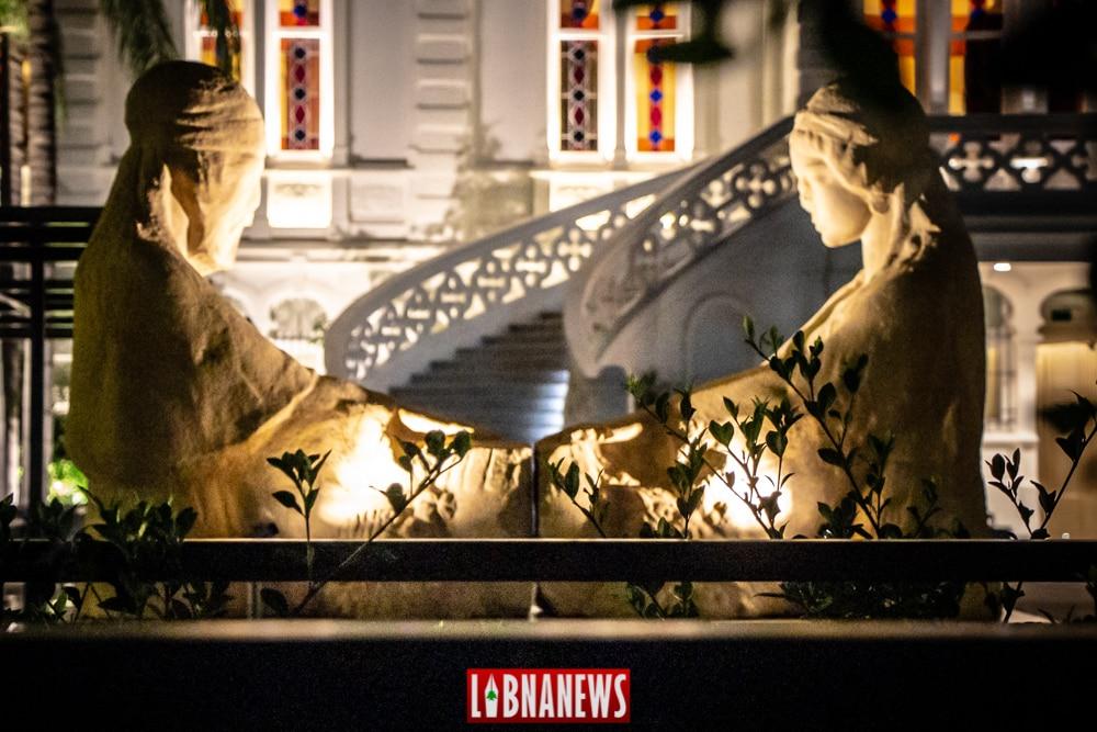 Les premières statues de la Place des Martyrs, actuellement au Musée Sursock, Beyrouth. Crédit photo: François el Bacha, pour Libnanews.com. Tous droits réservés.