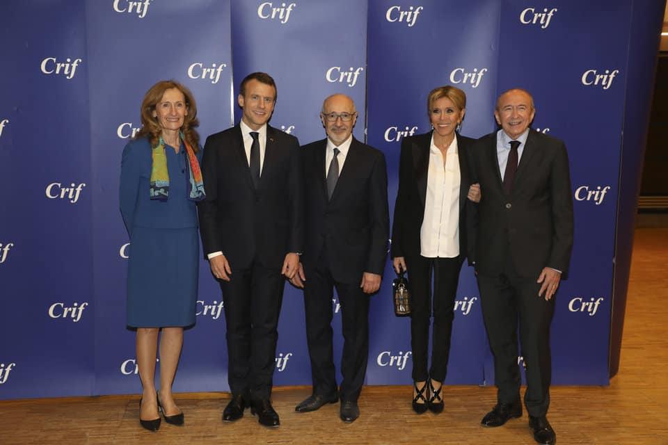 Macron au diner du Crif