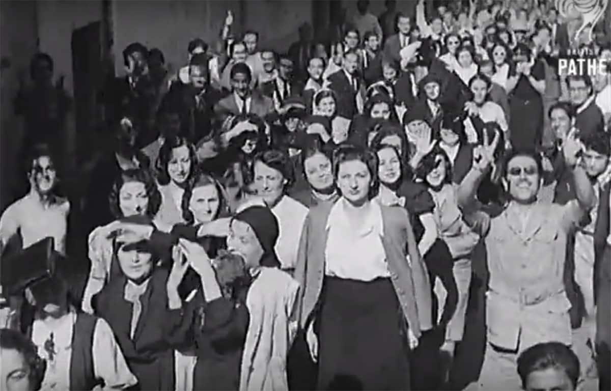 La Marche des Femmes, lors de l'indépendance du Liban, le 12 novembre 1943