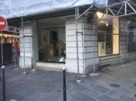 Le saccage de l'Office du Tourisme du Liban à Paris par les Gilets Jaunes, le 16 mars 2019. Source Image LBCI