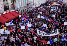 La commémoration du Génocide Arménien en France. Source Photo: de l'auteur
