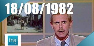 Capture d'écran d'un journal télévisé dont le sujet était la guerre civile du Liban