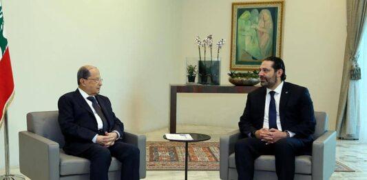 La réunion du Conseil des Ministres a été précédée par la rencontre entre le Président de la République, le Général Michel Aoun et son Premier Ministre Saad Hariri. Crédit Photo: Dalati & Nohra