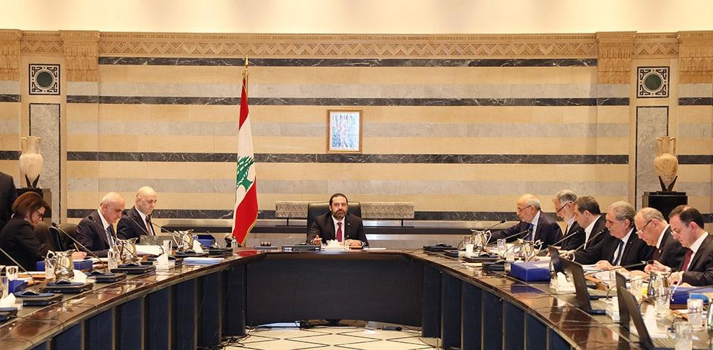 Le conseil des Ministres du 2 mai 2019 au Grand Sérail sous la Présidence du Premier Ministre Saad Hariri. Crédit Photo: Dalati & Nohra