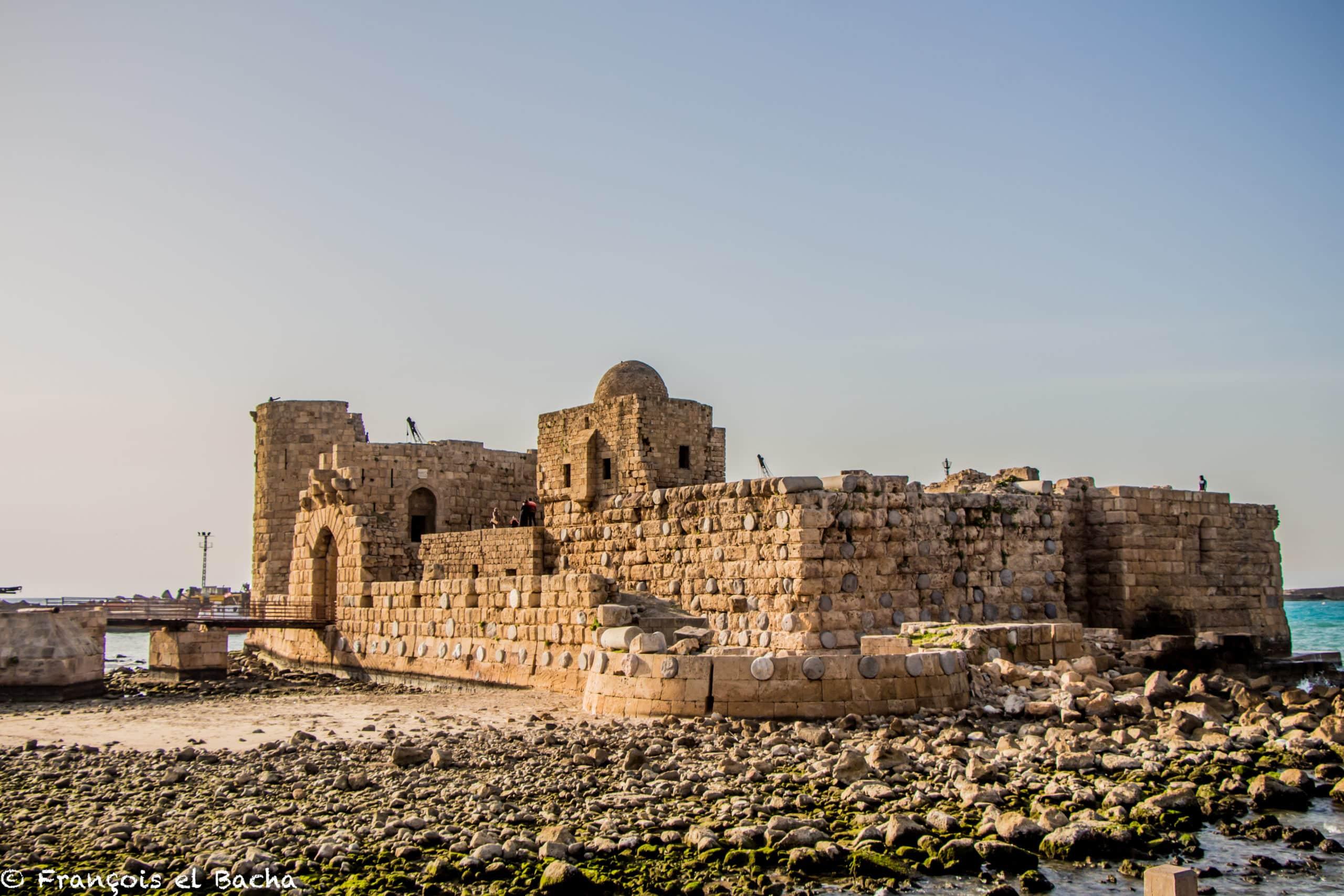 Le Château de la Mer, Saïda, Sud Liban. Crédit Photo: François el Bacha