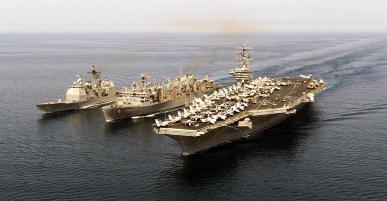 Navire de guerre américains