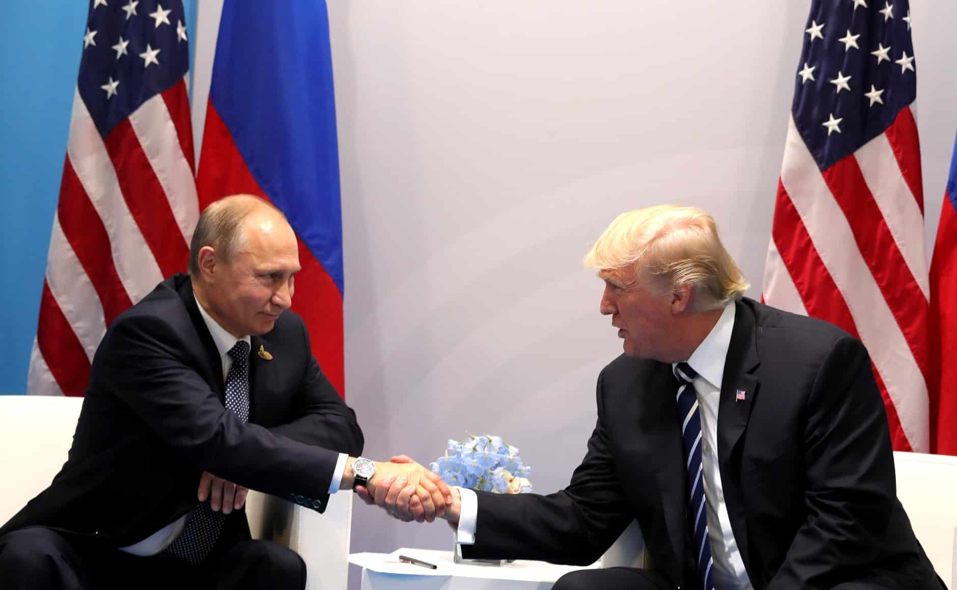 Vladimir Poutine et Donald Trump au sommet de Hambourg. Source Photo: Wikipedia