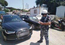 Le véhicule saisi par les FSI. Source Photo: Page Facebook des FSI