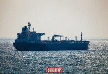 Un tanker dans la mer
