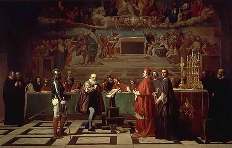 Galilée devant le Saint Office, peinture du XIXe siècle, de Joseph-Nicolas Robert-Fleury