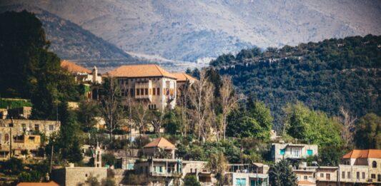 La résidence de Walid Joumblatt à Moukhtara dans le Chouf. Crédit Photo: Francois el Bacha pour Libnanews.com. Tous droits réservés.