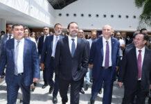 Le Premier Ministre inaugurant la 2ème phase des travaux d'expansion de l'Aéroport International de Beyrouth. Crédit Photo: Dalati & Nohra