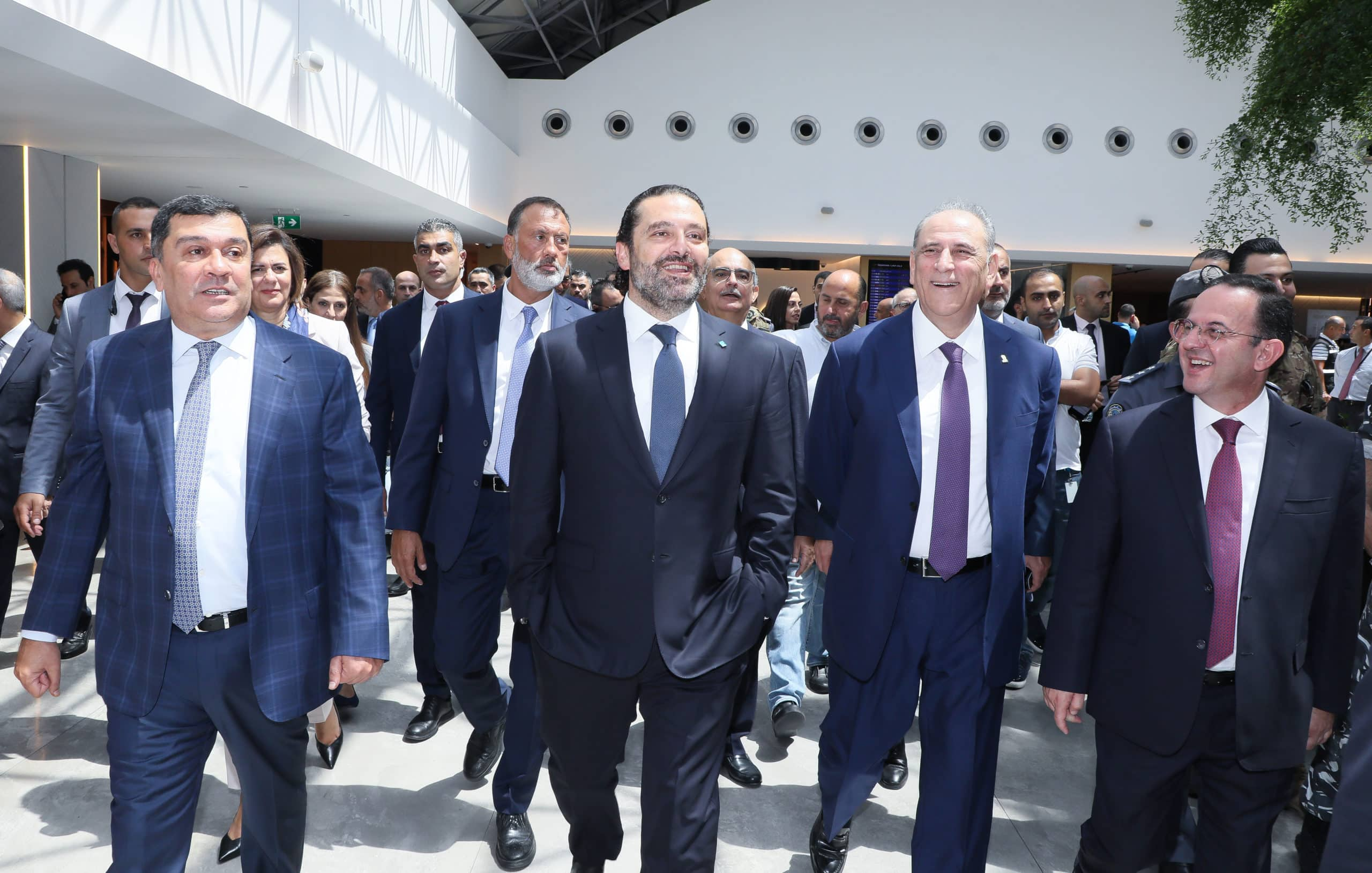 Le Premier Ministre inaugurant la 2ème phase des travaux d'expansion de l'Aéroport International de Beyrouth. Crédit Photo: Dalati & Nohra